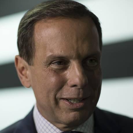 O governador eleito de São Paulo, João Doria, durante entrevista Foto: Edilson Dantas/Agência O Globo/05-11-2018