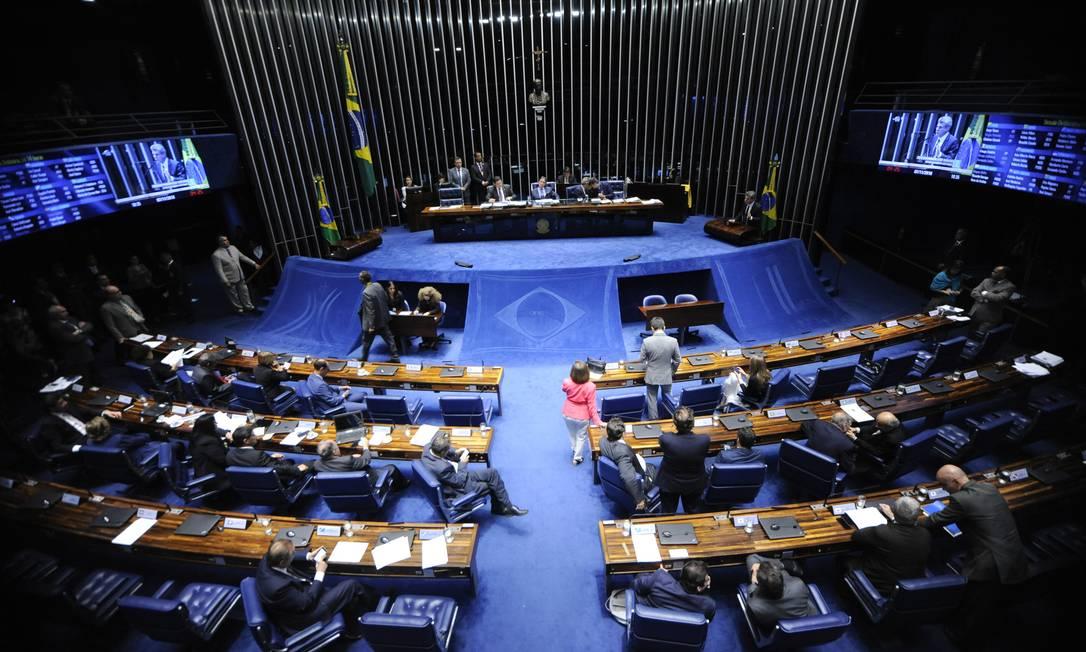 Plenário do Senado Federal durante sessão deliberativa o Foto: Jonas Pereira / Jonas Pereira/Agência Senado
