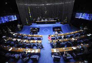 Plenário do Senado Federal durante sessão deliberativa Foto: Jonas Pereira / Jonas Pereira/Agência Senado