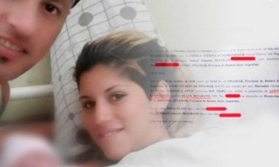 Nahuel e Ana Sofia, pais de River Plate Foto: Reprodução/Twitter