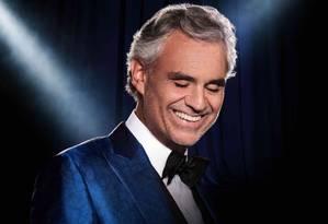 O tenor Andrea Bocelli, que figura como primeiro lugar em duas listas da