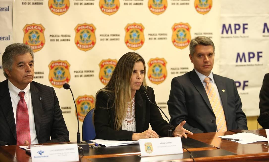 Coletiva de imprensa da PF e do MPF sobre a prisão de deputados envolvidos em esquema de propina na Alerj Foto: Pedro Teixeira / Agência O Globo