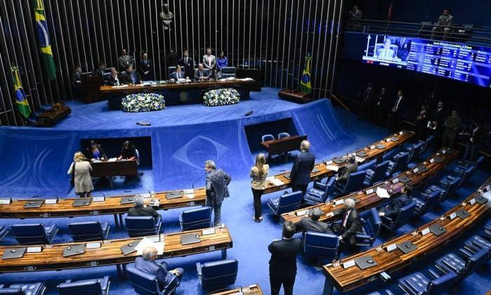 Plenário do Senado durante sessão deliberativa extraordinária Foto: Marcos Oliveira / Marcos Oliveira/Agência Senado