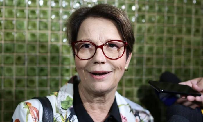 A deputada federal Tereza Cristina, durante entrevista coletiva Foto: Sergio Lima / AFP