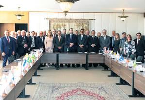 O presidente do STF, Dias Toffoli, se reúne com presidentes dos TJs estaduais Foto: Carlos Moura/STF