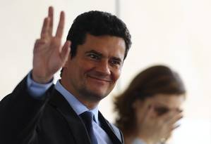 O juiz Sergio Moro almoça no restaurante do CCBB Foto: Jorge William / Agência O Globo