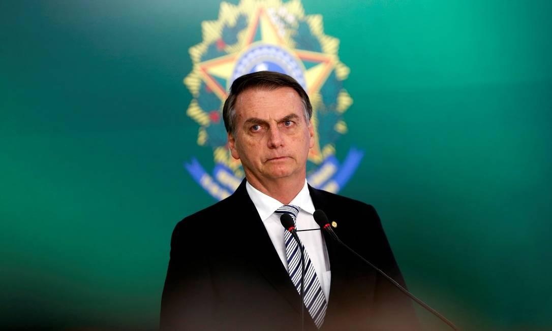 O presidente eleito Jair Bolsonaro, durante pronunciamento à imprensa Foto: Adriano Machado/Reuters/07-10-2018