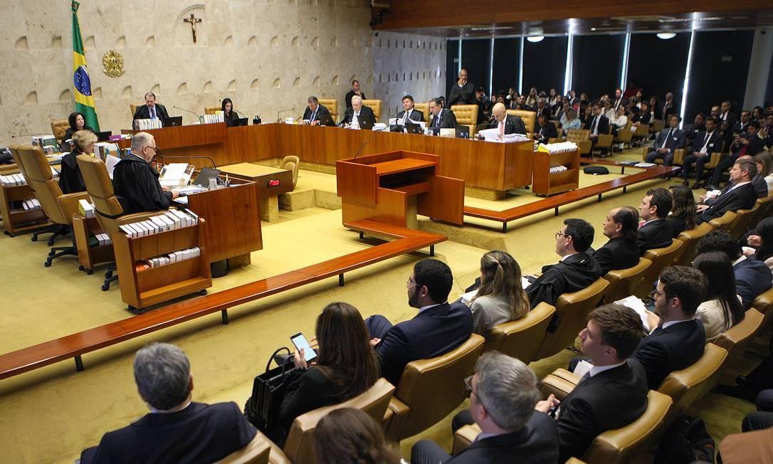 Plenário do STF, durante sessão Foto: Nelson Jr./STF