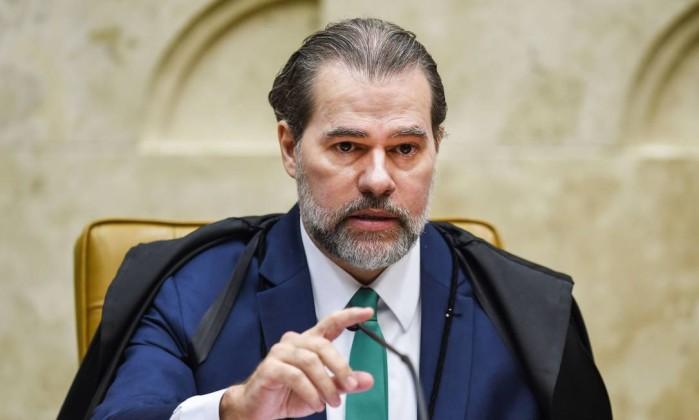 O presidente do STF, Dias Toffoli Foto: Evaristo Sá / AFP