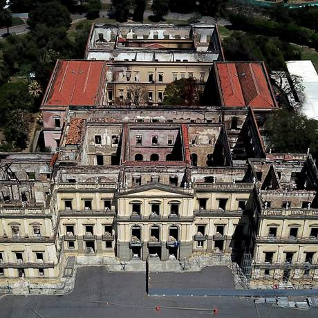 O Museu Nacional, no Rio de Janeiro Foto: Custódio Coimbra/Agência O Globo/02-10-2018