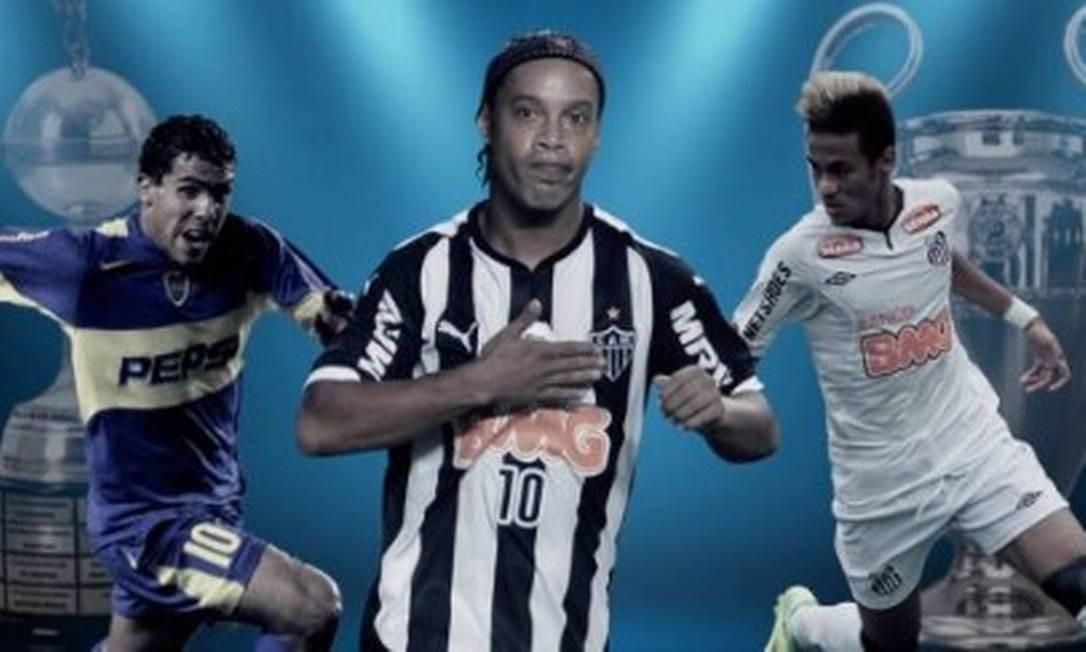 Tévez, Ronaldinho Gaúcho e Neymar entre os campeões Foto: Reprodução
