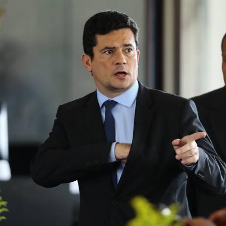 O juiz Sergio Moro foi anunciado como futuro ministro da Justiça de Bolsonaro Foto: Jorge William / Agência O Globo