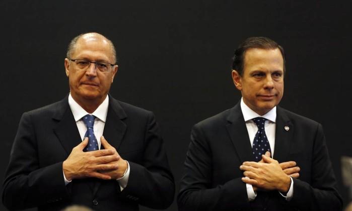 O ex-governador de São Paulo Geraldo Alckmin e governador eleito, João Doria 17/08/2017 Foto: Edilson Dantas / Agência O Globo