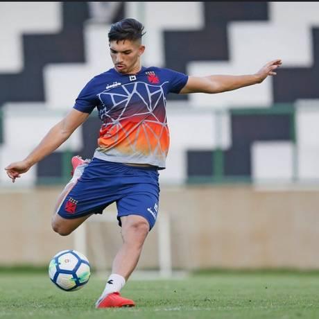 Andrey em treino do Vasco Foto: Rafael Ribeiro/Vasco