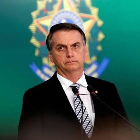 O presidente eleito Jair Bolsonaro, durante pronunciamento Foto: Adriano Machado / Reuters