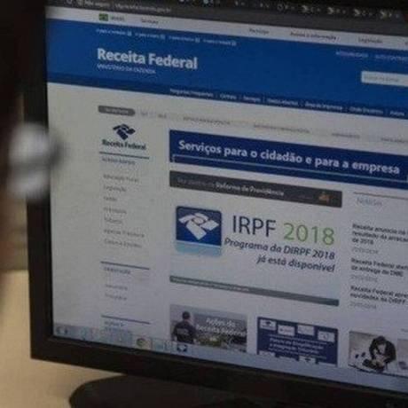Site da Receita Federal: consulta pode ser feita com o número do CPF Foto: Alexandre Cassiano - Agência O Globo