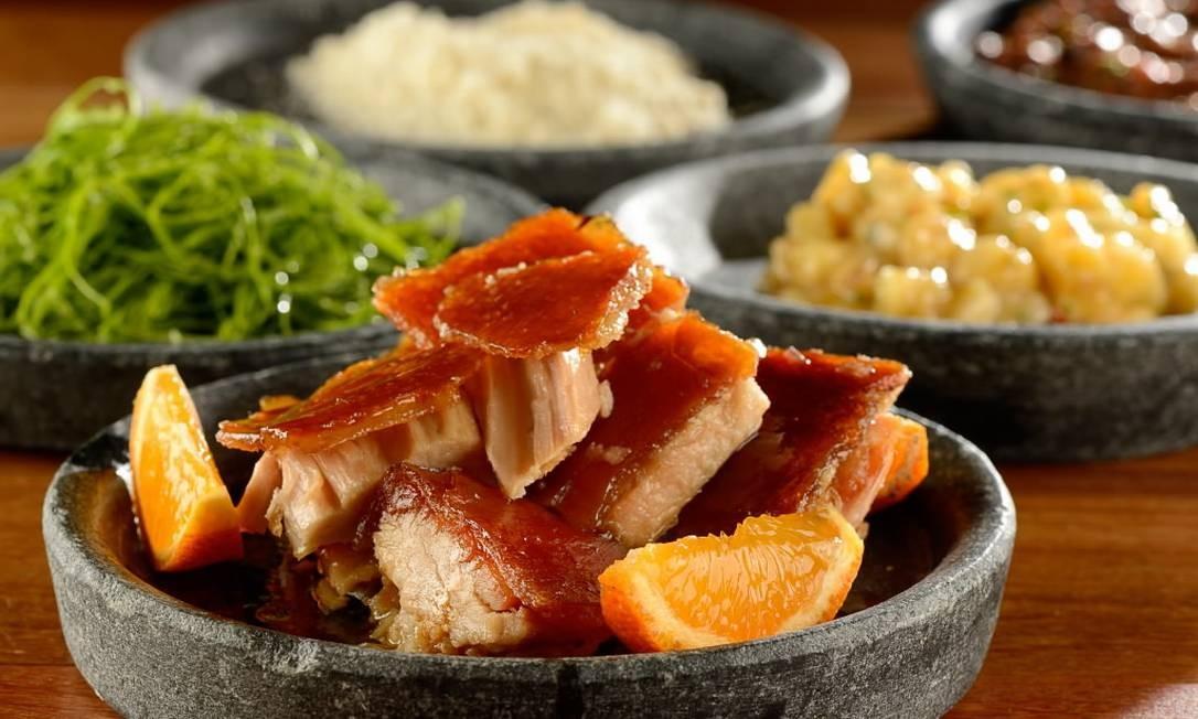 Porco San Zé, do menu da A Casa do Porco Bar, do chef Jefferson Rueda Foto: Mauro Hollanda/Divulgação