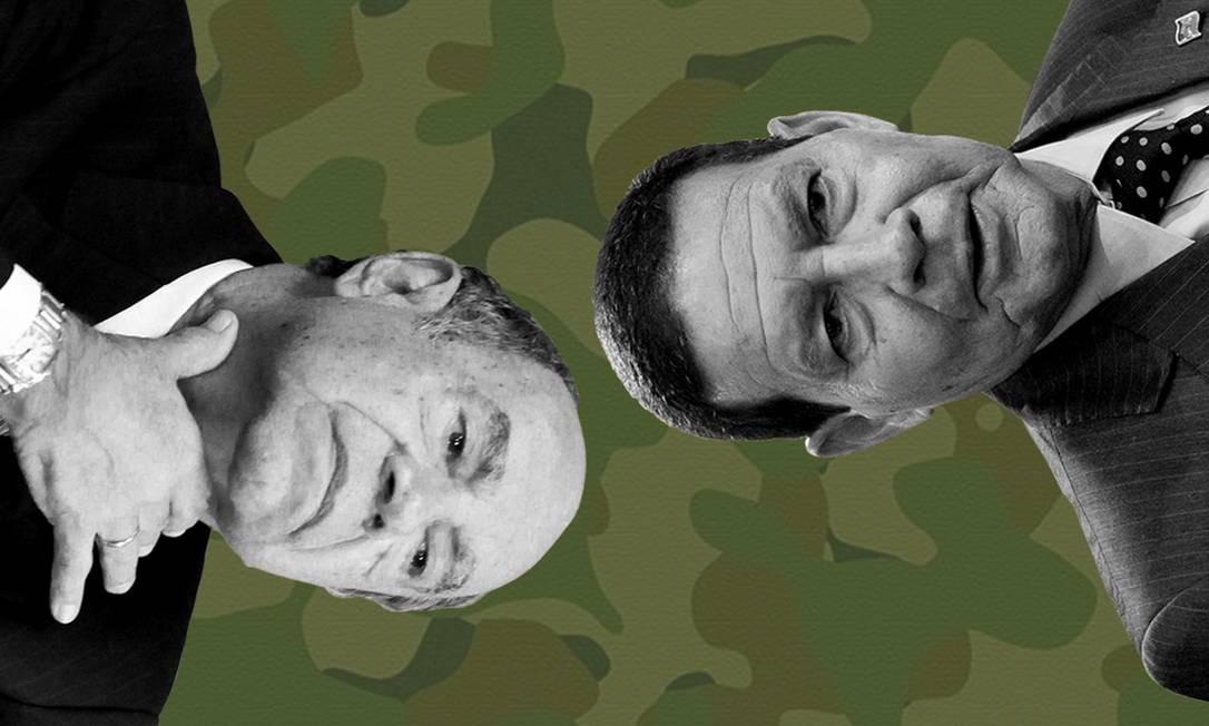 O coronel Ustra e o General Mourão Foto: Agência O Globo
