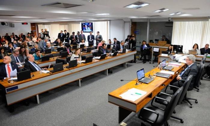 Plenário da Comissão de Constituição e Justiça (CCJ) do Senado Foto: Pedro França / Agência Senado
