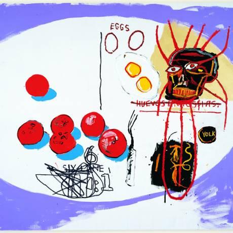 Obra de Basquiat em exposição Foto: Divulgação