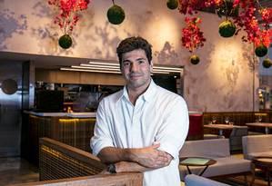 Felipe Bronze. O chef do Oro diz que o objetivo é fazer as pessoas felizes Foto: Divulgação/Tomas Rangel