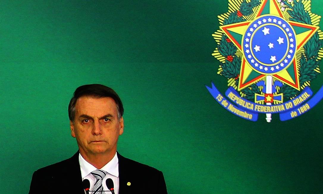 O presidente eleito, Jair Bolsonaro 07/11/2018 Foto: Jorge William / Agência O Globo