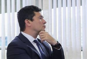 O juiz Sergio Moro, anunciado ministro da Justiça de Bolsonaro Foto: SERGIO LIMA / AFP