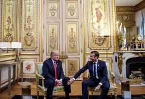 Macron recebe Trump no Palácio do Eliseu: tensão nas relações Foto: POOL / REUTERS