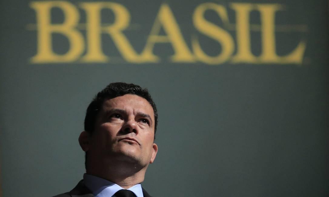 O juiz Sergio Moro tem um grande desafio como ministro da Justiça e da Segurança Foto: Edilson Dantas / Agência O Globo