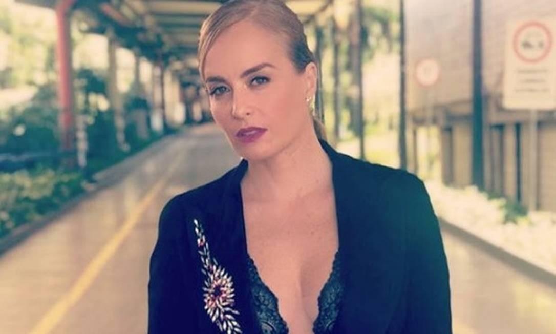 Angélica ousa no look Foto: Reprodução/Instagram