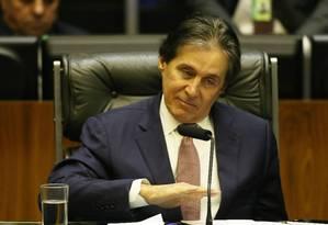 O presidente do Senado, Eunício Oliveira (PMDB-CE) Foto: Aílton de Freitas / Agência O Globo