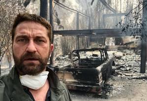 Gerard Butler mostra casa destruída em Malibu Foto: Reprodução/Instagram