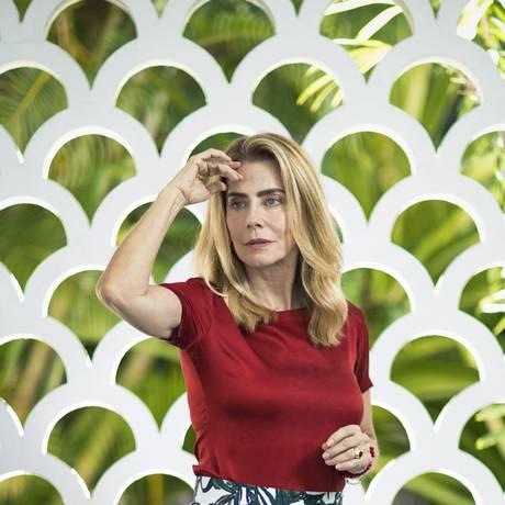 A atriz Maitê Proença, em entrevista ao Globo Foto: Leo Martins / Agência O Globo