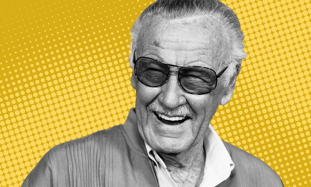 Stan Lee, que faleceu nesta segunda-feira Foto: Agência O Globo