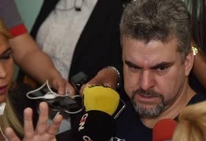 O traficante Marcelo Piloto durante entrevista no Paraguai em 6/11/2018 Foto: Norberto Duarte / AFP