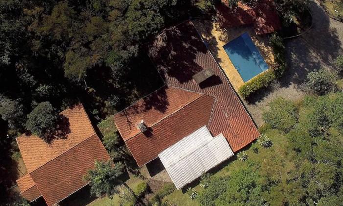 Vista aérea do sítio frequentado pelo ex-presidente Lula em Atibaia, no interior de São Paulo Foto: Luís Moura / WPP/Agência O Globo