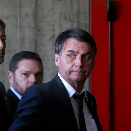 O presidente eleito Jair Bolsonaro cumpre agenda nesta terça-feira em Brasília Foto: Adriano Machado / Reuters