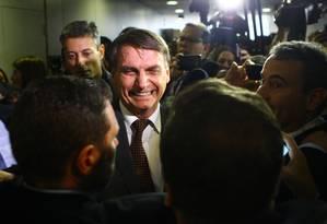 O presidente eleito, Jair Bolsonaro, após reunião em Brasília Foto: Jorge William / Agência O Globo