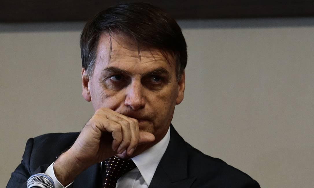 O presidente eleito, Jair Bolsonaro durante evento do Tribunal do Trabalho (TST) Foto: Jorge William / Agência O Globo