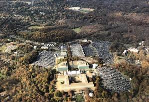 Complexo da CIA, em Langley, nos Estados Unidos Foto: DANIEL SLIM / AFP