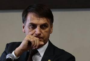 O presidente eleito Jair Bolsonaro Foto: Jorge William / Agência O Globo