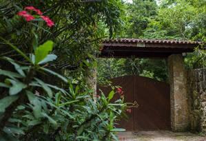 Entrada do sítio de Atibaia, atribuído pelo MPF ao ex-presidente Lula Foto: Edilson Dantas / Agência O Globo