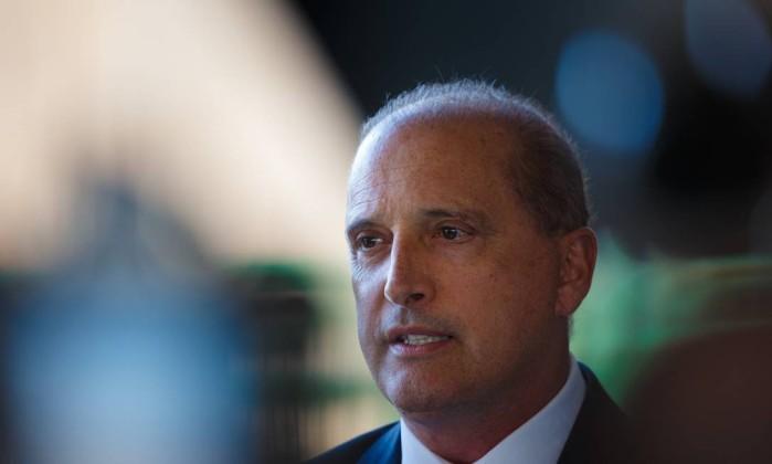 O Ministro Extraordinário Onyx Lorenzoni concede entrevista no CCBB, durante a transição de governo Foto: Daniel Marenco / Agência O Globo