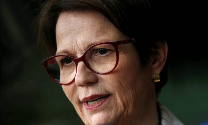 Tereza Cristina (DEM-MS) foi a primeira mulher a ser anunciada para assumir um ministério do governo de Jair Bolsonaro Foto: ADRIANO MACHADO / REUTERS