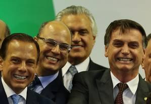 O presidente eleito Jair Bolsonaro em encontro com governadores Foto: Jorge William / Agência O Globo