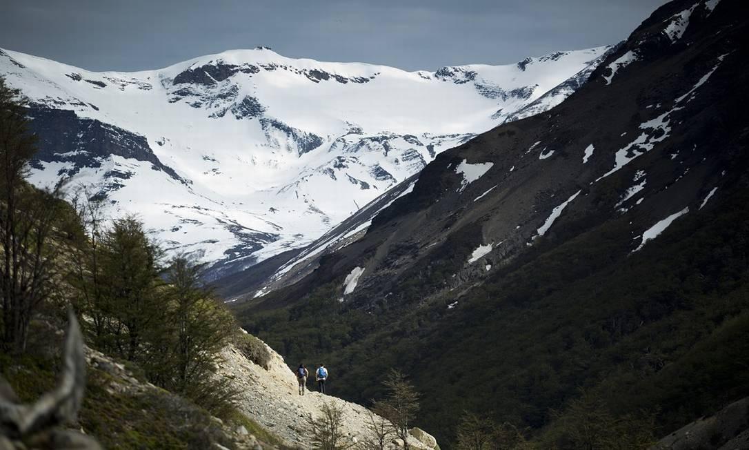 BV Chile 09/11/2018 Parque Nacional Torres del Paine, na Patagônia chilena. Na foto, primeiro trecho da caminhada de quase cinco 5 horas que leva a base das torres. Foto de Márcia Foletto / Agência O Globo Foto: Márcia Foletto / Márcia Foletto