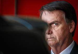 O presidente Jair Bolsonar confirma privatização de 12 aeroportos Foto: Daniel Marenco / Agência O Globo