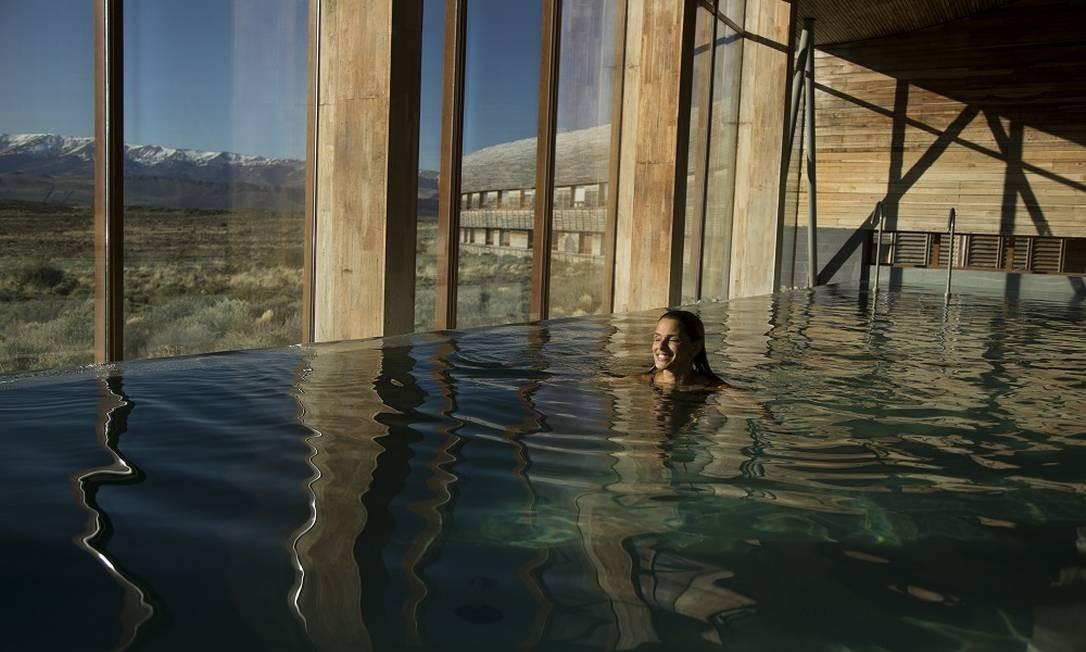 Parque Nacional Torres del Paine, na Patagônia chilena. Na foto, o hotel Tierra Patagônia Foto: Márcia Foletto / Agência O Globo