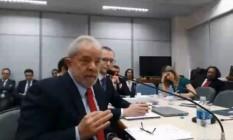 Lula presta depoimento à juíza Gabriela Hardt, que substitui o juiz Sergio Moro na 13ª Vara Federal de Curitiba Foto: Reprodução