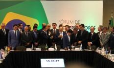 Reunião da equipe do presidente eleito Jair Bolsonaro com governadores Foto: Jorge William / Agência O Globo